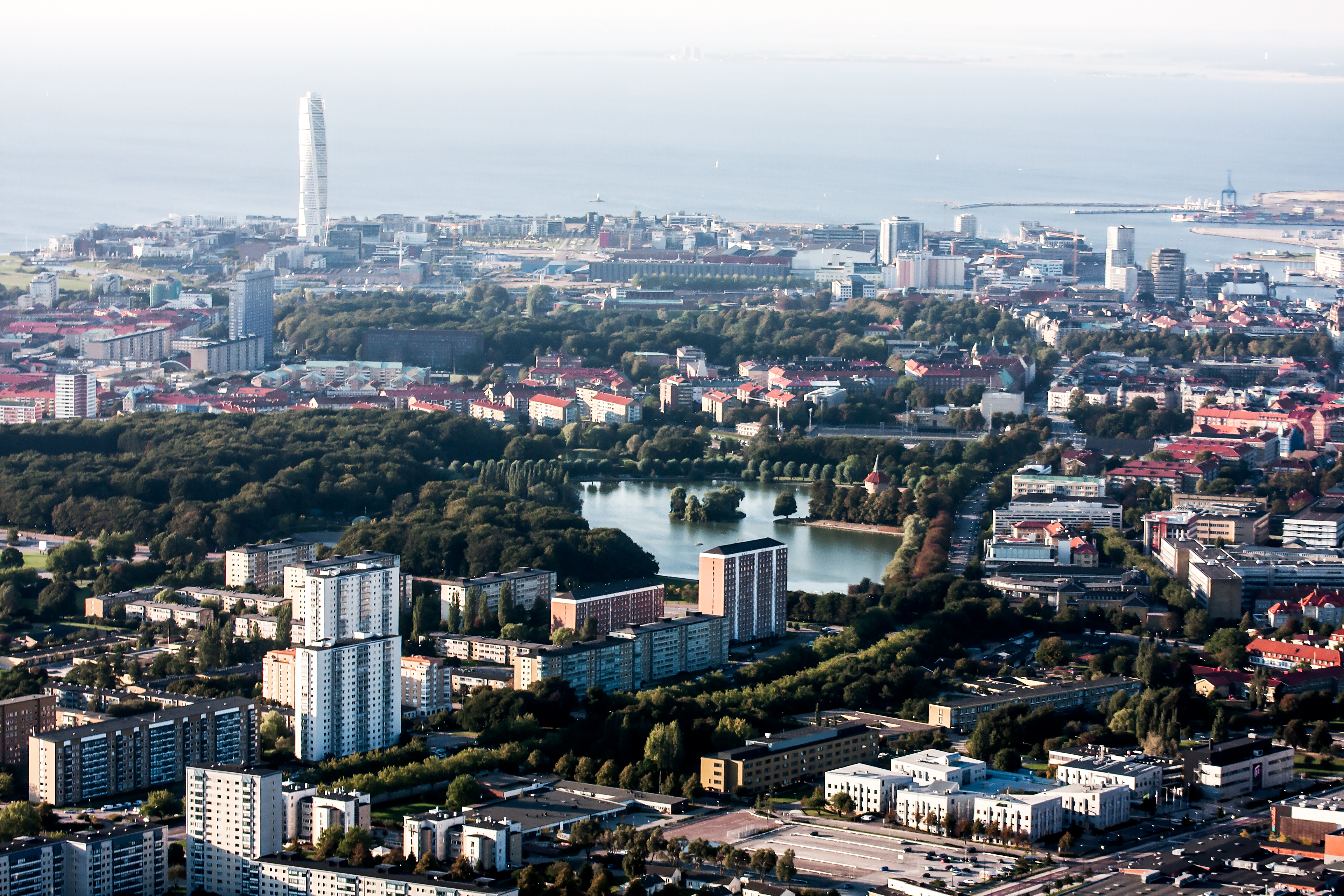 Aerial view of Malmö